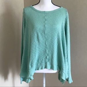 LEFT OF CENTER Anthropologie Mint Top Blouse M